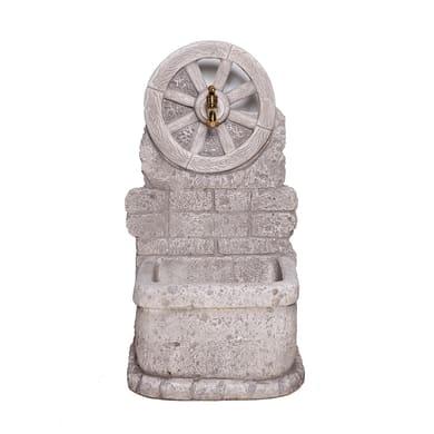 Fontana a colonna Masseria in calcestruzzo H 81 cm, 43 x 38 cm