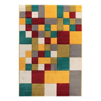 Tappeto Allegra , multicolor, 133x190