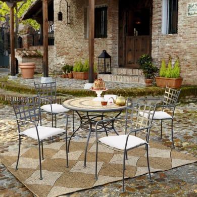 Set tavolo e sedie New gijon grigio / argento 2 posti
