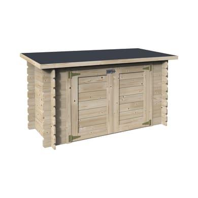 Baule da esterno DECOR ET JARDIN in legno 190 x 87 cm