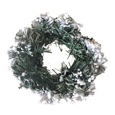 Corona di natale bianco e verde Ø 45 cm
