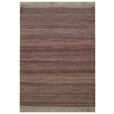 Tappeto Kilim lana , tessuto a mano, rosso, 160x230 cm