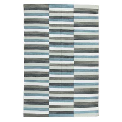 Tappeto Playfull in cotone, tessuto a mano, blu, 160x230 cm