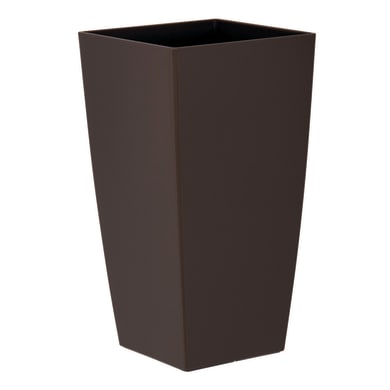 Vaso Piza in plastica colore tortora H 61 cm, L 33 x P 33 cm Ø 33 cm