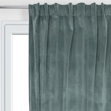 Tenda Misty verde fettuccia con passanti nascosti 135 x 280 cm