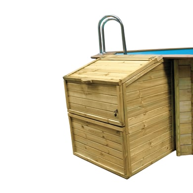 Baule da esterno Locale tecnico in legno 100 x 88 cm