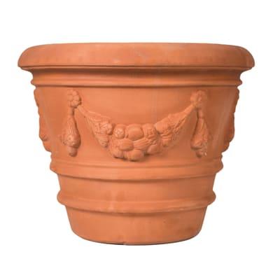 Vaso Festonato bordato in terracotta colore impruneta H 69 cm, L 83 x P 83 cm