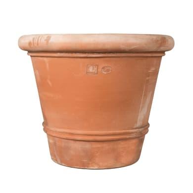 Vaso Liscio bordato in terracotta colore cotto H 93 cm, L 110 x P 110 cm