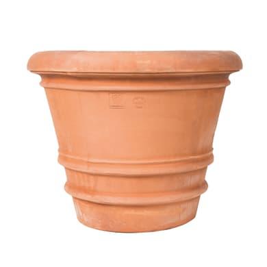 Vaso Liscio in terracotta colore cotto H 69 cm, L 83 x P 83 cm