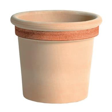 Vaso Milano graffiato in terracotta colore impruneta H 29.1 cm, Ø 33 cm