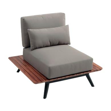 Divano da giardino con cuscino  in legno Cosmo colore marrone