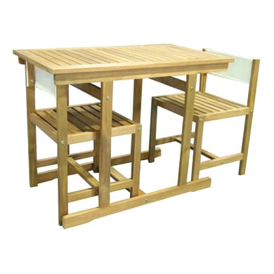 Mobile da giardino Balcony in legno beige 2 posti