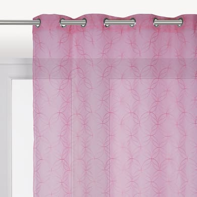 Tenda INSPIRE Abela rosa occhielli 140 x 280 cm