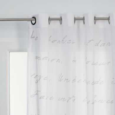Tenda Harmonie bianco occhielli 140x280 cm