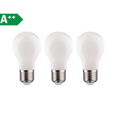 Lampadina Filamento LED E27 goccia bianco caldo 11W = 1521LM (equiv 100W) 360° LEXMAN, 3 pezzi