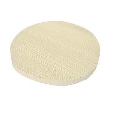 Passo giapponese in calcestruzzo 39 x 33 x 25 cm bianco