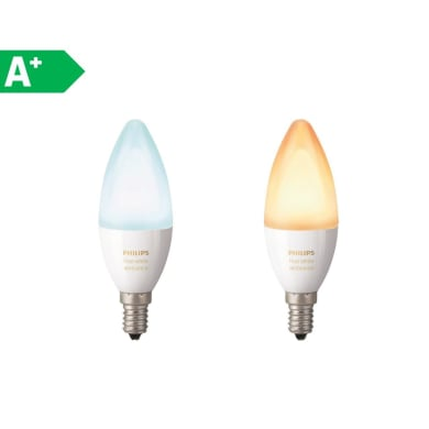 Lampadina LED E14 oliva colore cangiante 6W = 470LM (equiv 40W) 220° PHILIPS HUE