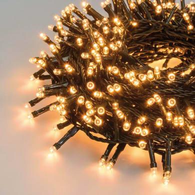 Catena luminosa 180 lampadine LED bianco caldo 200 cm