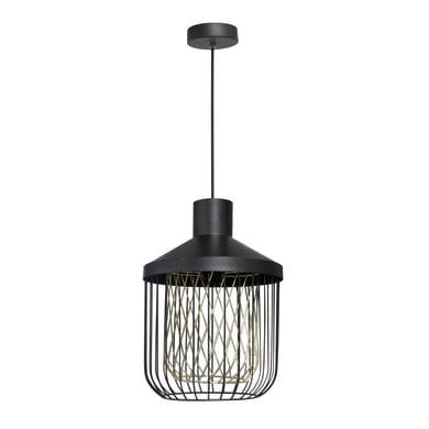 Lampadario Design Undulat nero in ferro, D. 30 cm, INSPIRE
