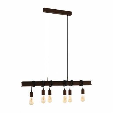 Lampadario Industriale Townshend marrone in acciaio inossidabile, D. 29.0 cm, 6 luci, EGLO