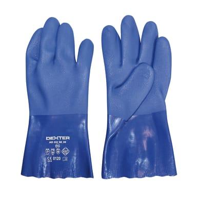 Guanto per protezione chimica in pvc DEXTER 9 / L