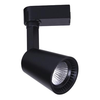 Binario Eolo in alluminio nero LED