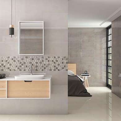 Piastrella per rivestimenti Bellagio L 33.3 x H 33.33 cm grigio