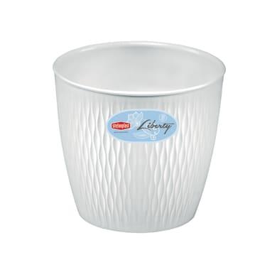 Vaso Liberty STEFANPLAST in plastica H 15 cm, Ø 16 cm