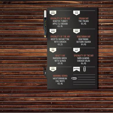 Lavagna per gesso Weekly plan multicolor 45x30 cm