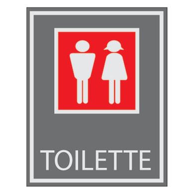 Cartello segnaletico Toilette vinile 7 x 8.5 cm