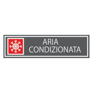 Cartello segnaletico Aria condizionata vinile 15 x 14 cm