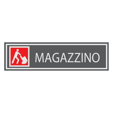 Cartello segnaletico Magazzino vinile 15 x 14 cm
