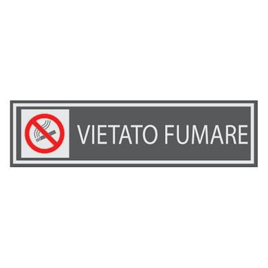 Cartello segnaletico Vietato fumare vinile 15 x 14 cm