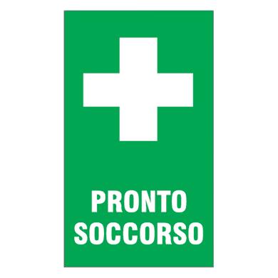 Cartello segnaletico Pronto soccorso pvc 20 x 30 cm