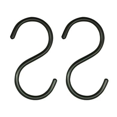 Gancio nero L 5.5 x P 0.6 x H 11 cm