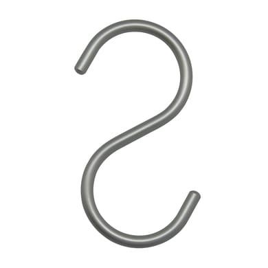 Gancio argento L 5.5 x P 0.6 x H 11 cm