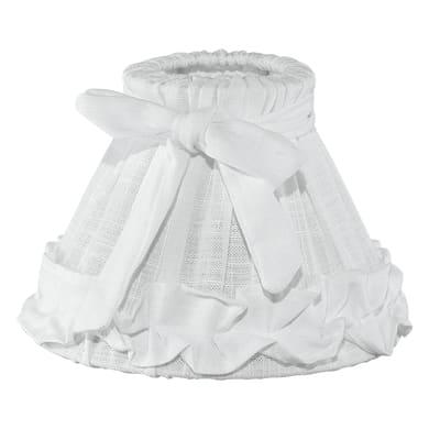 Paralume per lampada da comodino personalizzabile  Ø 20.5 cm bianco in tessuto Eglo