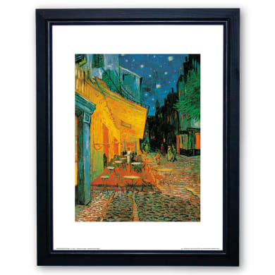 Stampa incorniciata Cafè At Night 35x45 cm