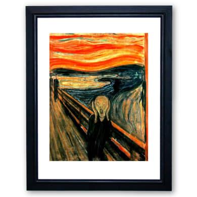 Stampa incorniciata Urlo Di Munch 35x45 cm