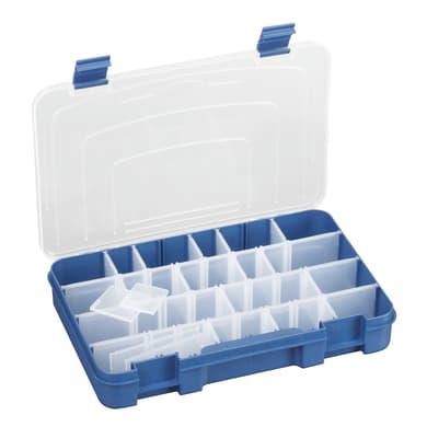 Contenitore per viti con cassetti 195 in plastica trasparente