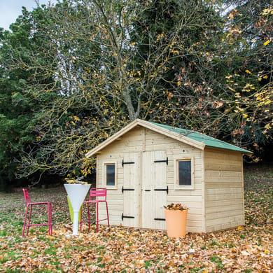 Casetta da giardino in legno Lisetta,  superficie interna 6.6 m² e spessore parete 19 mm
