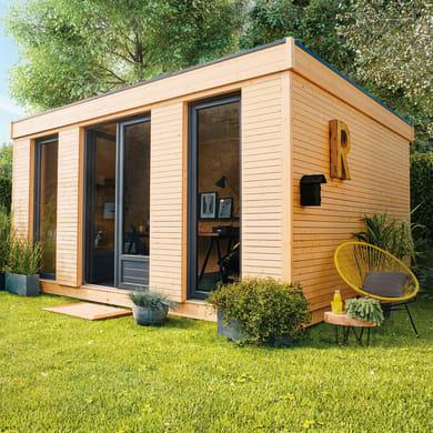 Casetta da giardino in legno Decor Home 21,  superficie interna 21.34 m² e spessore parete 90 mm