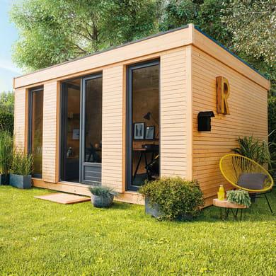 Casetta da giardino in legno Decor Home 15,  superficie interna 15.25 m² e spessore parete 90 mm