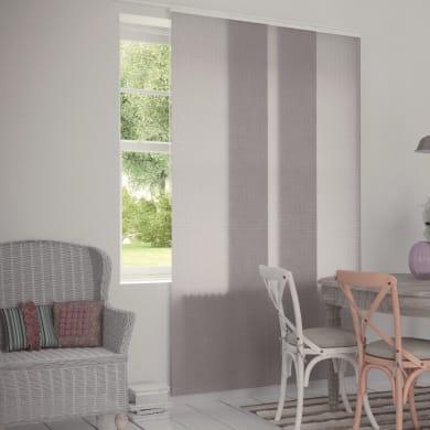 Pannello giapponese INSPIRE resinato righe orizzontali panna 60x300 cm