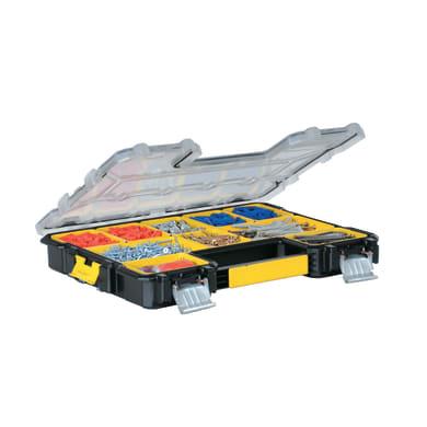 Contenitore per viti con cassetti STANLEY FATMAX Pro in polipropilene nero 10 scomparti