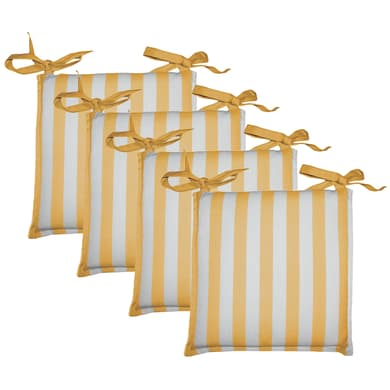Cuscino per sedia Tinto filo kent giallo 40x40 cm