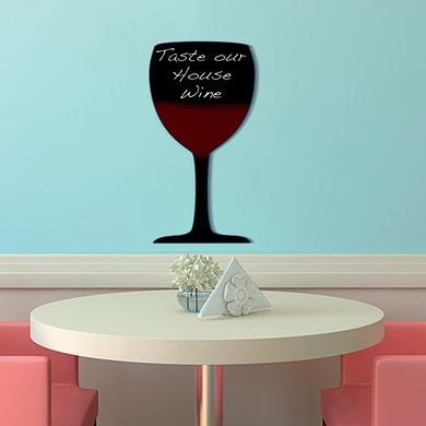 Lavagna per gesso Bicchiere nero 31.1x53 cm