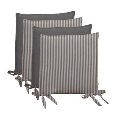 Cuscino per sedia Riga grigio 40x40 cm