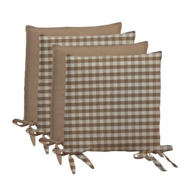 Cuscino per sedia Quadri ecru 40x40 cm