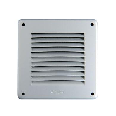 Griglia di aerazione in alluminio forma quadrato L 14 x H 14 cm